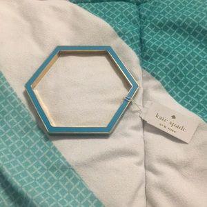 Kate Spade turquoise hexagon bracelet